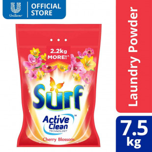 Surf Cherry Blossom Laundry Powder Detergent 7.5KG Pouch