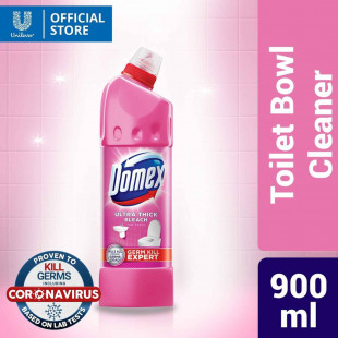 Domex Ultra Thick Bleach Toilet Cleaner Pink Power 900ML Bottle