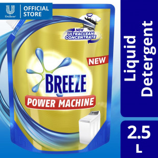 Breeze Liquid Detergent Powermachine with Ultraclean Concentrate 2.5L Bottle